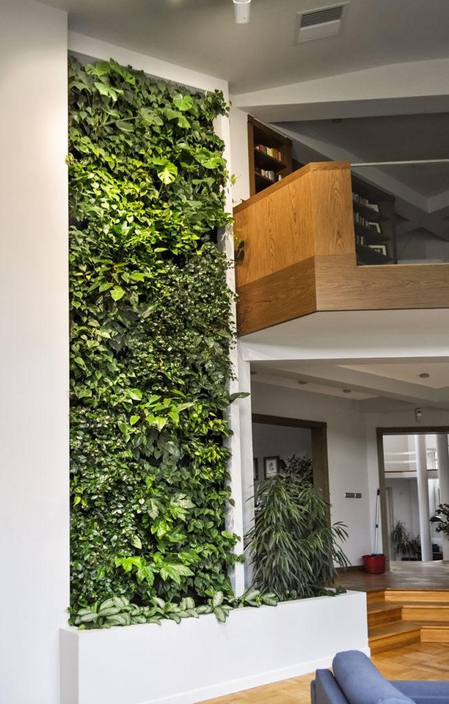 Zielona ściana w mieszkaniu Warszawa